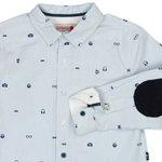 736242 boboli overhemd lichtblauw met elleboogstukken