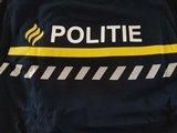 Achterzijde pyjama met politiestrepen, politielogo, jongenspyjama, stoere pyjama,