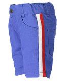 Blauw kort broekje met rood/wit streep maat 62,-86_