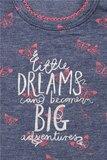 little dreams shirtje blauw met fuchsia