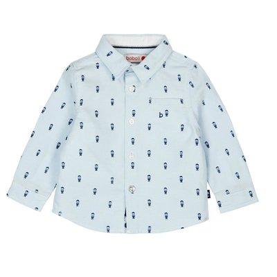 Lichtblauwe blouse Boboli maat 74 en 98