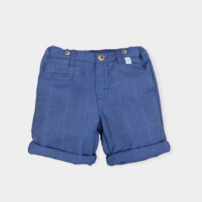 Blauwe korte broek Tutto Piccolo maat 128, 140 en 152