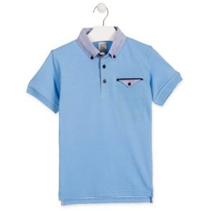 Blauwe polo Chic Collection Losan maat 68, 74, 80 en 92