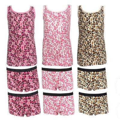 Meisjesondergoed Funderwear luipaardprint maat 104/110, 116/122 en 128/134