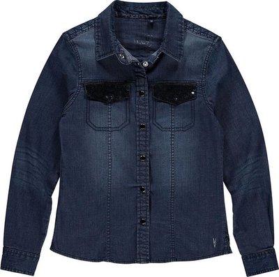 Blauwe spijkerblouse Levv