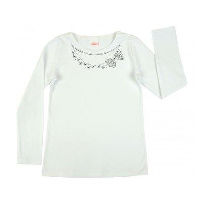 Wit shirt met steentjes maat 146