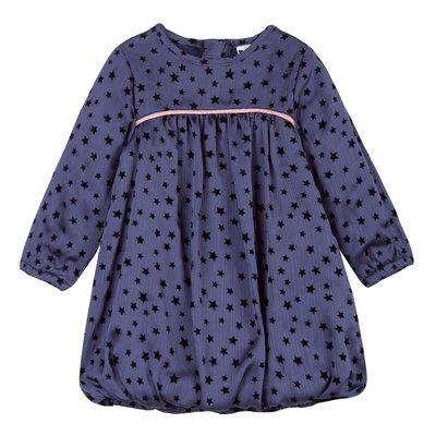 Blauw feest jurkje met sterretjes 3Pommes