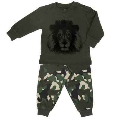 F&D pyjama camouflage leeuw