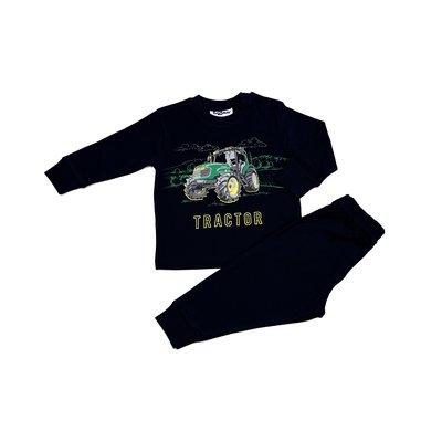 Tractorpyjama blauw en zwart Fun2Wear maat 62-176