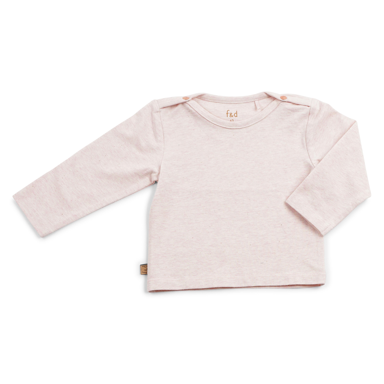 Roze melange shirt basic