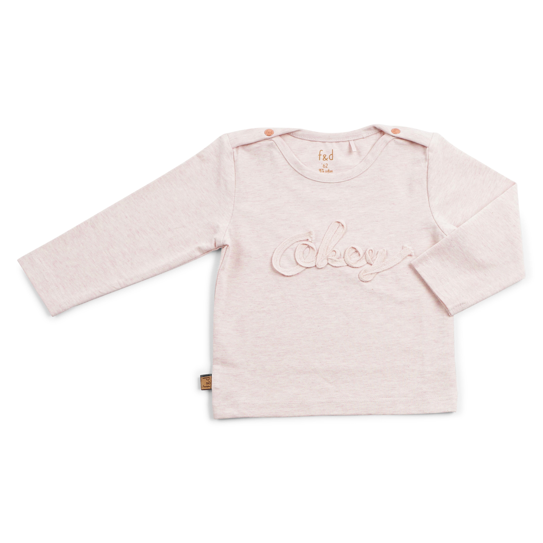 Roze melange shirt OKEY