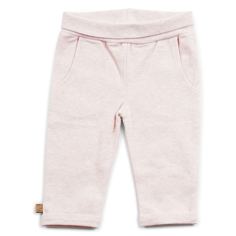 Roze melange broekje basic