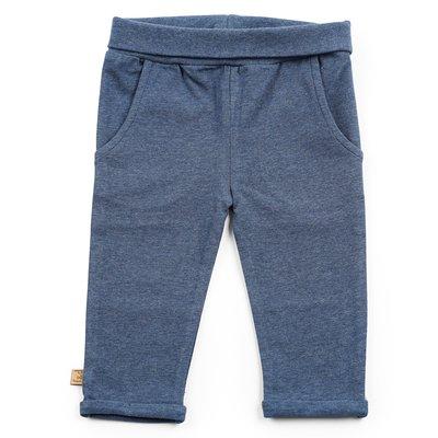 Blauw melange broekje basic