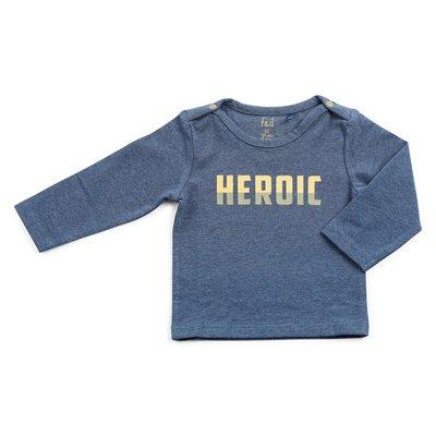 Blauw melange shirt Heroic