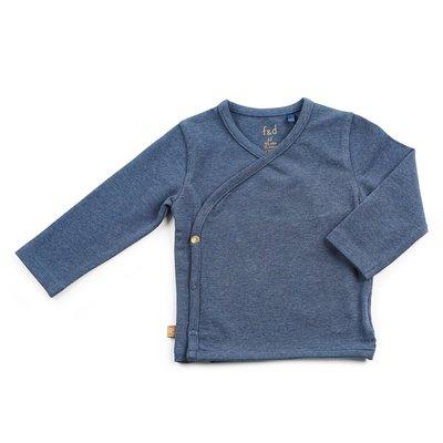 Blauw melange overslag shirtje F&D