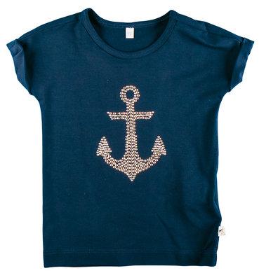 Wit of blauw shirt met anker serie Marine 104