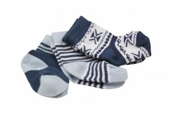 3-pack winterse sokken Dirkje blauw