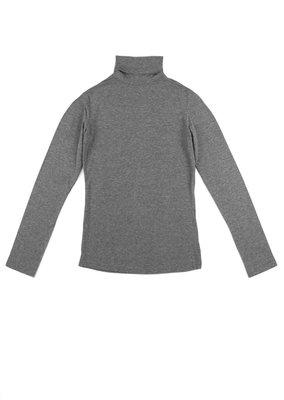 Basisshirt grijs met col mt 98-122