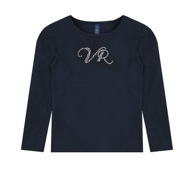 T-shirt lange mouw Vinrose 'Bri' donkerblauw