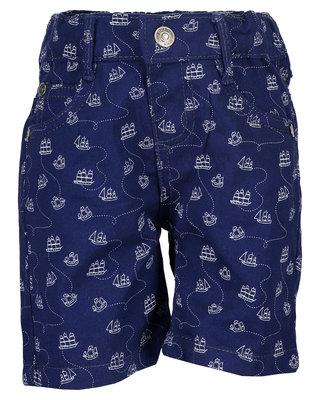Blauw kort broekje met scheepjes maat 62, 68 en 74