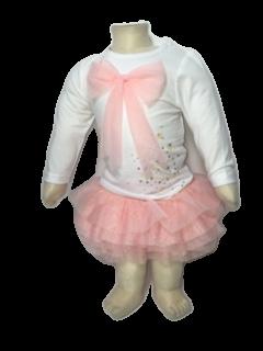 Wit shirt met roze tule rokje