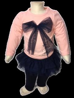 Roze shirt met blauw tule rokje