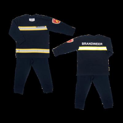 Brandweerpyjama's navy maat 92-128