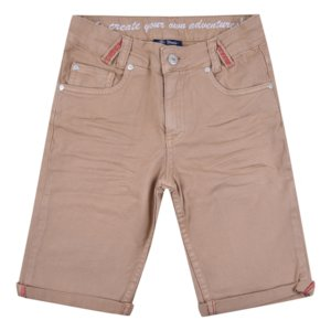 Zandkleurige taupe broek jongens kort zomer