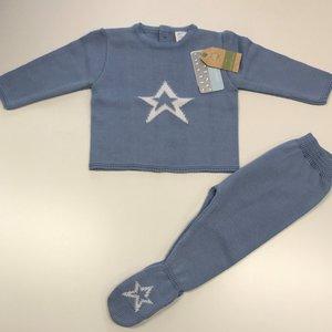 6811 mac ilussion babypakje gebreid blauw maat 44