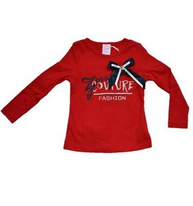 Rood shirt zero maat 152 128 longsleeve