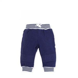 6112S19 broekje tutto piccolo blauw met wit gestreept maat 62 en 68