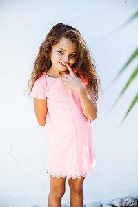 3J30104 3pommes roze jurkje zomer meisje maat 98, 104, 110