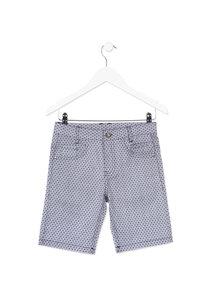 813-9007AA Losan bermuda korte broek blauw wit jongens maat 128, maat 152, maat 164, maat 176
