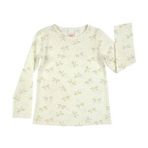 Offwhite ecru meisjesshirt maat 98, 104, 110, winterkleding