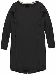 travelstofjurkje meisjes winterkleding nette jurk op de knie maat 158, maat 164, maat 176, maat xs, maat s, maat m, antraciet,