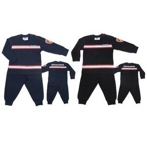 44529 brandweerpyjama jongens zomer winter stoer maat 104, maat 116