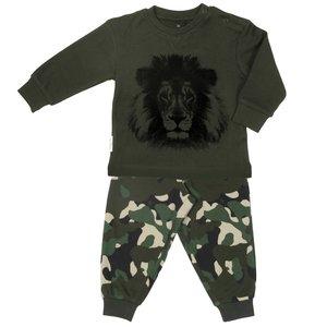 Frogs and dogs pyjama jongens leger groen camouflage leeuw maat 74, maat 80, maat 86, maat 92, maat 98, maat 104, maat 110, maa