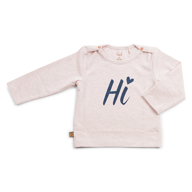 8716662735151 basic shirtje roze melange frogs and dogs meisjeskleding, babykleding, maat 50, maat 56, maat 62, maat 68, maat 7