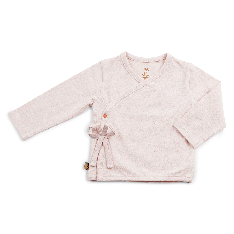 FD20115-02 overslagshirtje, overslaghemdje, baby, roze meisjes, noppies, maat 50, maat 56, maat 62, maat 68, maat 74,