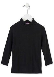 Zwart col shirt meisjes