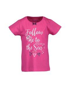 roze meisjesshirt zomer korte mouw blue seven