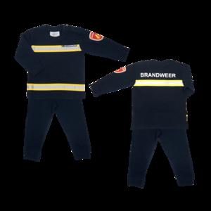 Brandweerpyjama Navy maat 92, 98, 104, 110, 116, 122, 128