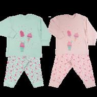 mint en roze pyjama