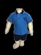 aquablauwe jongenspolo baby maat 68, 74, 80, 86, 92