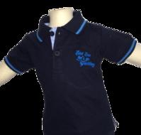 Blauwe jongenspolo Losan maat 68-92